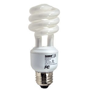 Damar 25508B Compact Fluorescent Lamp, Mini-Spiral, 13W, 4100K