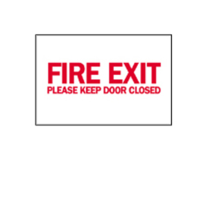 """Brady 22497 Sign, Fire Exit, Not Illuminated, 10"""" x 14"""", Indoor/Outdoor"""