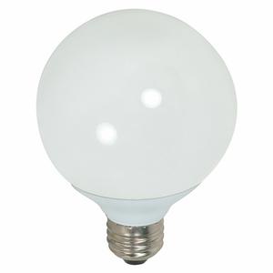Satco S7306 15W, G25 Compact Fluorescent, 5000K, Medium Base, 120 Volt