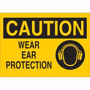 25908 EAR PROTECTION SIGN