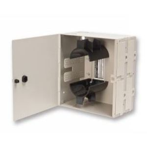 Corning Cable Systems WIC-024 Interconnect Center, Wall Mount, 4 WIC Connector Panels, Metal Beige