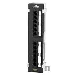 Leviton 5G596-U89 Universal Wall Bracket, 12-Port, Cat 5e