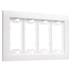 Hubbell-TayMac A4000W ALLURE® 4 -Gang Wallplate, White