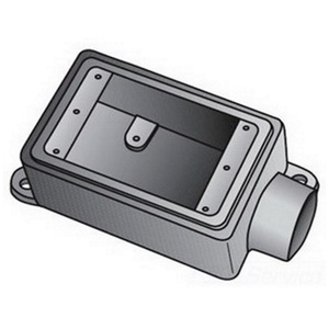"OZ Gedney FS175A FS Device Box, 1-Gang, Dead-End, 3/4"", Aluminum"