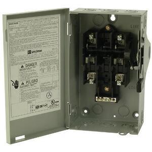 Eaton DG222NGB Safety Switch, 60A, 2P, 240V, Type DG, Fusible, NEMA 1