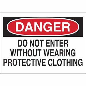 40654 PROTECTIVE WEAR SIGN