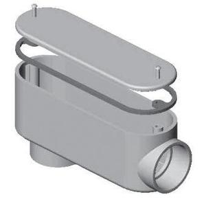 "Multiple 075LB Conduit Body With Cover and Gasket, Type LB, 3/4"", PVC"
