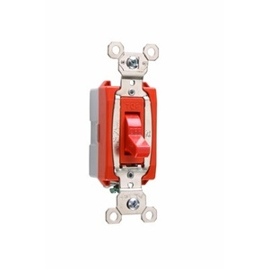 Pass & Seymour PS20AC1-RED Single Pole, 20 Amp, 120/277 Volt, Red