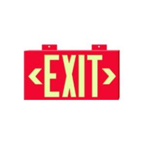 Brady 90840B Photolum Exit Sign 2 Sided W/mount Red