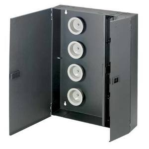 Panduit FWME8 Fiber Enclosure, Wall Mount, 8 QuickNet Cassettes, FAP/FMP, Black