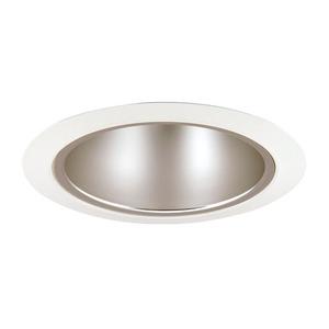 """Juno Lighting 276S-HZWH Cone Trim, Shallow, 5"""", Haze Reflector/White Trim"""