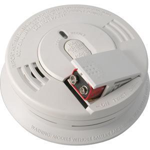 Kidde Fire 21006376 Ionization Smoke Detector, 120V AC, Wire-In, White
