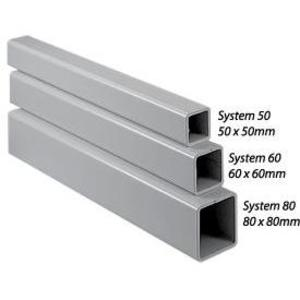 nVent Hoffman CCS8T20 Tubes, 80 mm x 80 mm, 5 mm Wall Thickness, Powder Coated Steel