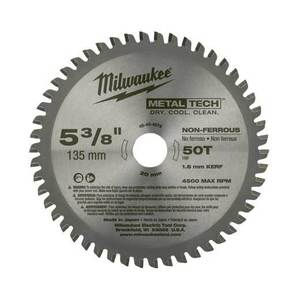 "Milwaukee 48-40-4075 5-3/8"" Circular Saw Blade"