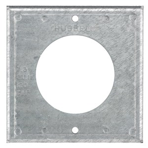 """Hubbell-Kellems HBL50SC 4"""" Square Raised Cover"""