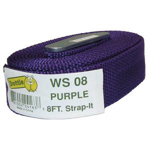 Dottie WS08 Web Strap w/ Buckle, Nylon, 8', Purple