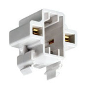 Leviton 26719-100 Compact Fluorescent Lampholder, Horizontal, Snap-In, G23, G23-2