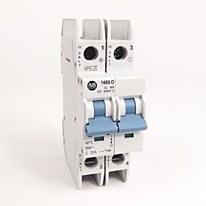 Allen-Bradley 1489-D2C200 Breaker, Miniature, 20A, 2P, 480Y/277VAC, 96VDC *** Discontinued ***