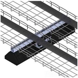 """Cablofil CPS10PG Cablo-PORT Base with Strut Support, 10"""" Long, 4-7/8"""" High"""