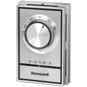 Honeywell T498B1512 Bimetal Thermostat, Double Pole, 120-277V, Gold