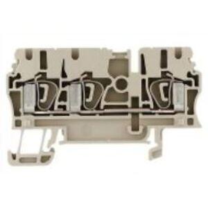 Weidmuller 1608540000 Terminal Block, Feed Through, Busbar, 2.5mm, Dark Beige, Z-Series