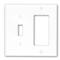 80707-GY GY WP 2G 1TGL/1 DEC PLASTIC
