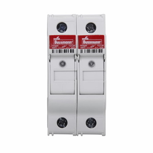 "Eaton/Bussmann Series CHM2DIU Fuse Holder, Modular, for 10/38"" & Midget, 2-Pole, w/ Indication"