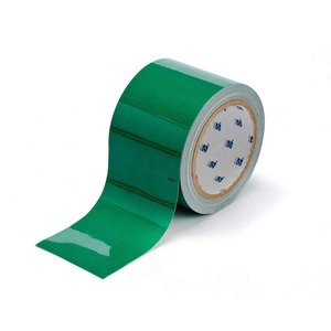 "Brady 104345 Floor Marking Tape, 3""x100', Green"