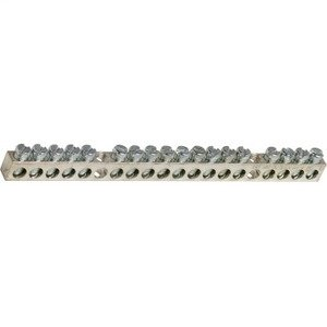 Square D 8010302652 Ground Bar, 18 Circuit, 225A, Copper, #14-4AWG, NQOD, NF Panelboard