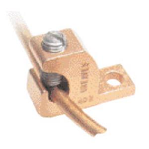 Greaves BTL4-DB Lay-In Lug, Copper, 14 - 4 AWG, # 10 Stud Hole
