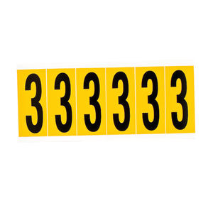 Brady 1550-3 15 Series Number & Letter Card