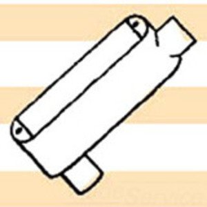 "Mulberry Metal 12857 Conduit Body, Type: LB, Size: 2-1/2"", Cover/Gasket, Aluminum"