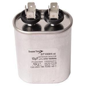 DiversiTech 37100H Motor Run Capacitor, 370V, 10uF