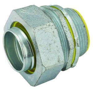 "Hubbell-Raco 3515RAC Liquidtight Connector, Straight, 1-1/4"", Insulated, Malleable Iron"