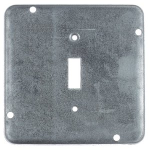 "Steel City RSL-9 4-11/16"" Square Exposed Work Cover, (1) Toggle Switch"