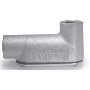 """Cooper Crouse-Hinds LB67CG Conduit Body With Cover/Gasket, Type: LB, Size: 2"""", Form 7"""