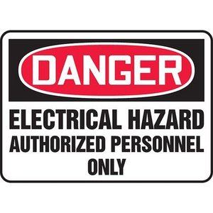 "Panduit PRS1014D7132 10.00"" x 14.00"" DANGER ELECTRICAL HAZ.."