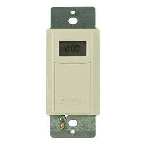 Intermatic EI600LAC Time Switch, 7-Day, Program., Astro, 20A, 120-277VAC, Light Almond