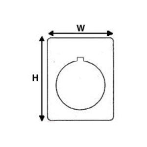 "Brady THTEP-167-593-.5 Raised PanelLabel, White, 1.5"" H x 1.2"" W"