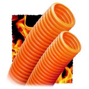 "Premier Conduit P-100T-5000-WHT Corrugated Plenum Innerduct, 1"", Orange, 500' Reel, Pull Tape"