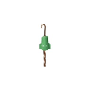 Ideal WGR-1 Grounding Wing Connector, 14 to 10 AWG, Green, Box of 50