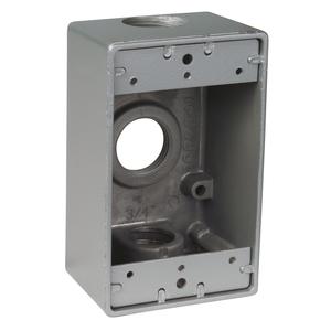 S105CN 3HOLES RECTANGULAR BOX 3/4