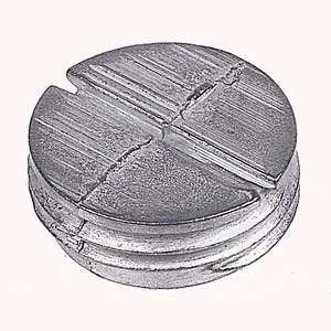 "Red Dot PLG-1-RD Closure Plug, Weatherproof, Diameter: 1/2"", Zinc"