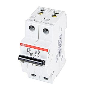ABB S202-C10 Circuit Breaker, Miniature, DIN Rail Mount, 10A, 2P, 480Y/277VAC