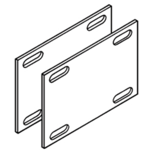 """Eaton B-Line 9A-1016 Expansion Splice Plates, for 5"""" NEMA / 6"""" Height Tray, Aluminum, Pair"""