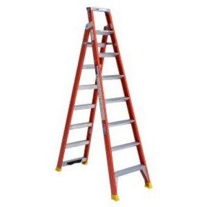 Werner Ladder DP6208 Fiberglass Dual Purpose Ladder, 8'