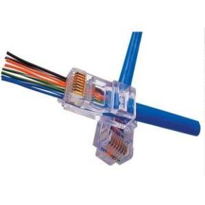Platinum Tools 100003C Modular Plug, EZ-RJ45 Cat 5e, 24AWG