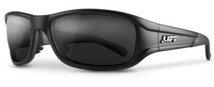 Lift Safety EAS-14MKST ALIAS SAFETY GLASS STYLE SERIES / MATTE BLACK FRAME WITH SMOKE LENS