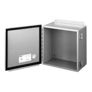 """nVent Hoffman A12064CH Junction Box, NEMA 12, Hinged Cover, 12"""" x 6"""" x 4"""", Steel"""