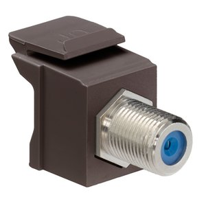 Leviton 41084-FBF F-Type Adapter,Nickle Plated, Brown